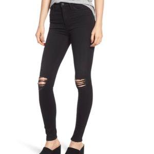 Hudson Jeans Collin Skinny Black Ripped 27